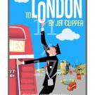Pan Am - London - 11x17 inch Vintage Airline Travel Poster