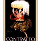 Contratto Champagne - Vintage Poster Print [6 sizes, matte+glossy avail]