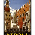 Verona #1 - Vintage Italian Travel Poster [6 sizes, matte+glossy avail]