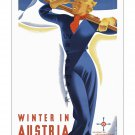 Austria #6 - Vintage Travel Poster Print [4 sizes, matte+glossy avail]