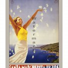 Santa Marghertia Ligure #1 - Vintage Travel Poster [4 sizes, matte+glossy avail]