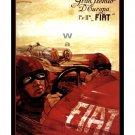 Fiat Gran Premio - Vintage Auto Racing Poster [6 sizes, matte+glossy avail]