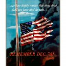 Remember December 7th! - US WWII Propaganda Poster [4 sizes, matte+glossy avail]