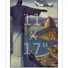 Pan Am Flying Down to Rio In Five Days 11x17 inch Vintage Airline Travel Poster