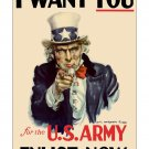 Uncle Sam I Want You WWII ver US Propaganda Poster [6 sizes, matte+glossy avail]