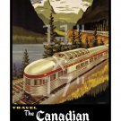 Canadian Pacific Scenic Dome - 11x17 inch Vintage Railroad Travel Poster