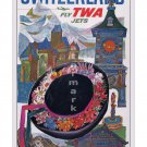 TWA Switzerland - Vintage Airline Travel Poster [6 sizes, matte+glossy avail]