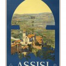 Assisi - Vintage Italian Travel Poster [6 sizes, matte+glossy avail]