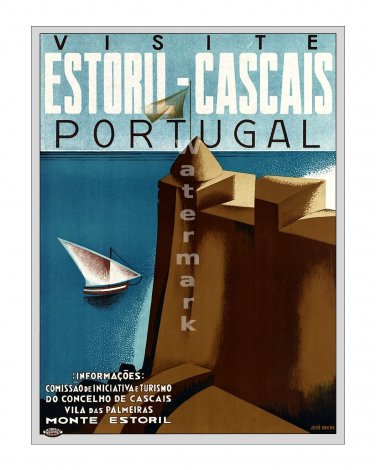 Portugal - Vintage Travel Poster [4 sizes, matte+glossy avail]