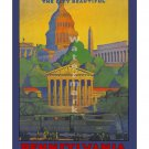 Pennsylvania Railroad Washington DC Travel Poster [6 sizes matte+glossy avail]