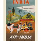 Air India - Vintage Airline Travel Poster [6 sizes, matte+glossy avail]