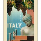 Italy #1 - Vintage Travel Poster [4 sizes, matte+glossy avail]