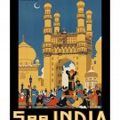See India #1 - Vintage Travel Poster [4 sizes, matte+glossy avail]