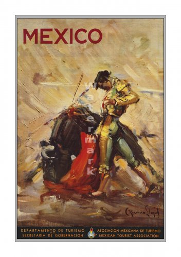 Mexico #2 - Matador - Vintage Travel Poster [6 sizes, matte+glossy avail]