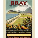 Bray Ireland - Vintage Travel Poster [4 sizes, matte+glossy avail]