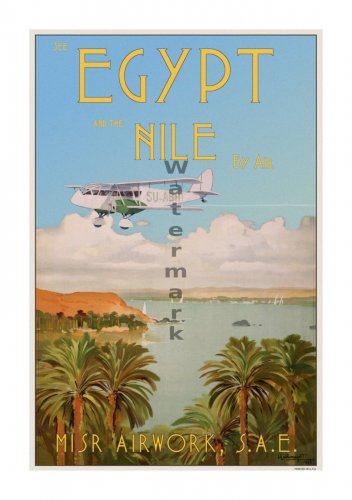 MISR Air #2 - Vintage Airline Travel Poster [6 sizes, matte+glossy avail]