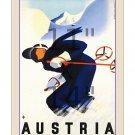 Austria #3 - 11x14 inch Vintage Travel Skiing Poster