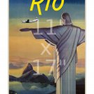 Pan Am Rio #3 - Vintage Airline Travel Poster 11x17 inches