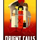 The Orient Calls - 11x17 inch Colorful Vintage Travel Poster