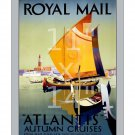 Royal Mail - Atlantis Autumn Cruises - 11x14 inch Vintage Travel Poster