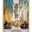 1933 Chicago Worlds Fair #1 - 11x17 Vintage Art Deco Poster