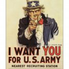 James M Flagg - Uncle Sam I Want You - WWI Recruiting Poster 11x17 inches