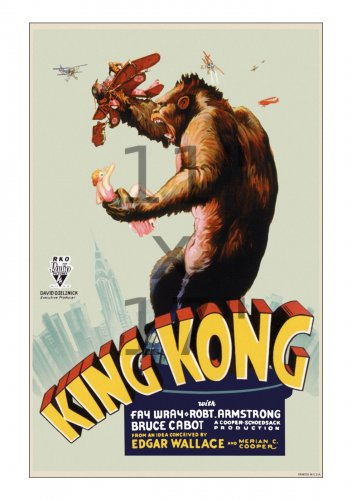 King Kong #1 - Vintage Film Movie Poster Lobby Card 11x17 inches