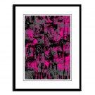 Pink Emo - Artamatik Framed Print