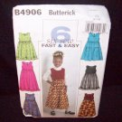 Butterick Pattern #4906  Childrens and girls, jumper, and  size, (6-7-8)