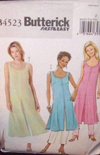 *Butterick Pattern #4523 , misses/petite, tunic, skirt and pants size large/ xlarge