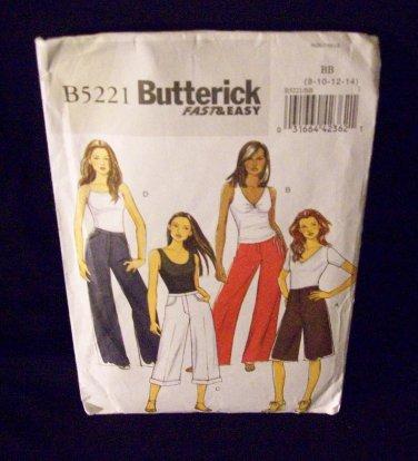 Butterick Pattern #B5221, pants size 8, 10, 12, 14