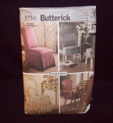 Butterick Pattern #3750  five assorted chair covers