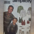 **SIMPLICITY PATTERN #7030  boys and mens shirt, vest bow tie and suspenders, s-l/s-xl