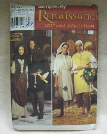 **Simplicity Costumes Renaissance collection  Pattern #8587 adult size xs-xl
