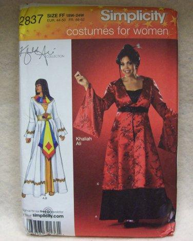 SIMPLICITY PATTERN:  Khaliah Ali Collection Costumes Pattern #2837 women size 26w - 32w