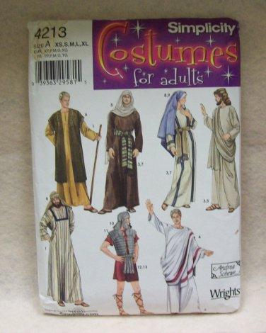 SIMPLICITY CHRISTMAS COSTUME PATTERN  #4213 bible characters, adults size xs-xl