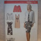 SIMPLICITY Pattern #3874 Misses dress with bodice variations and jacket, size 8, 10, 12, 14, 16