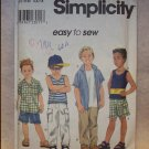 SIMPLICITY Pattern #8719 Boys shirt, pants or shorts and knit top,size 5, 6, 7, 8