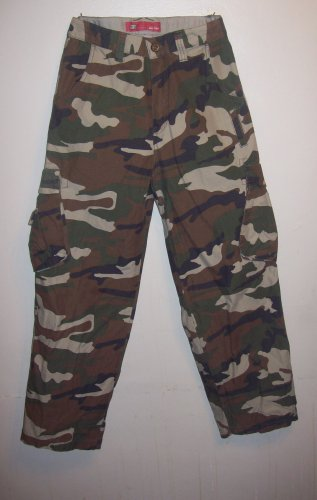 "Army fatigue/camoflage Pants Size Boys 6, ""Faded Glory"""