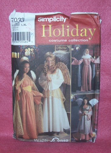 COSTUME, SIMPLICITY  Holiday Costume Collection pattern #7033 L, xl