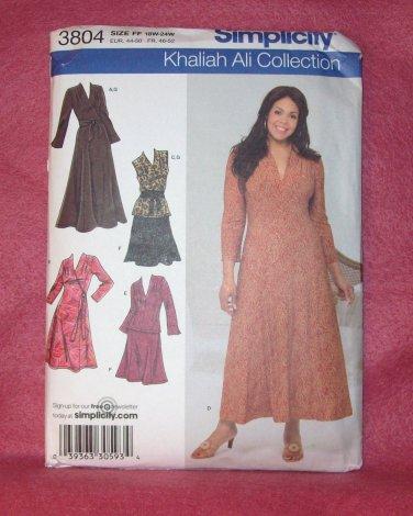 SIMPLICITY PATTERN  Khaliah Ali Collection Pattern #3804 adult size, 18W -24W