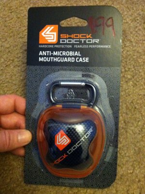 Shock Doctor Anti-Microbial Mouthguard Case Brand New