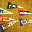 Miniature Penants, 5 NBA and 1 Football