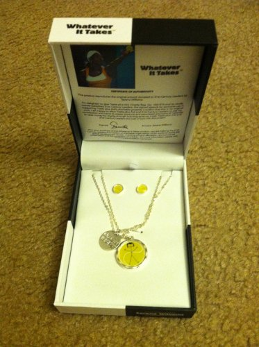 Serena Williams Whatever It Takes Tennis Artwork Necklaces, Stud Earrings Jewelry Set