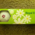 Vintage Royal Daisy Golf Balls New in the Original Sleeve
