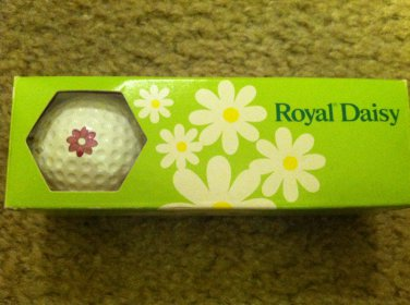 Vintage Royal Daisy Golf Balls New in the Original Sleeve