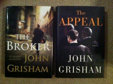 John Grisham lot of 2 Fiction Thriller Hardcover books