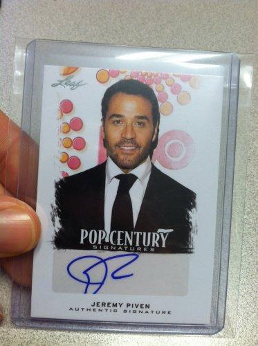 Jeremy Piven Pop Century Signatures Auto Card