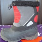 Totes Kids Jeffrey 2 Black/Red Boys Cold-Weather Boots - BNIB