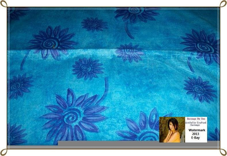 Sun Flowers Sarong  - Great For A Beach Party Or Just By The Pool